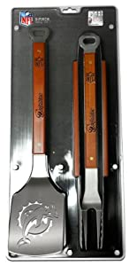 SPORTULA 3-PIECE BBQ SET - MIAMI DOLPHINS by SPORTULA PRODUCTS