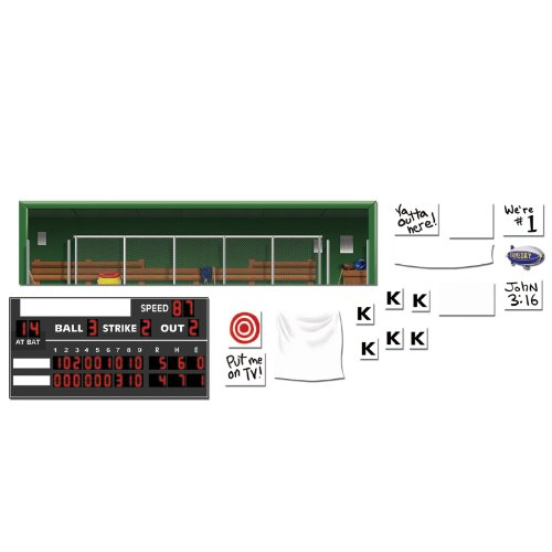 """Beistle 52098 Printed Baseball Props, 3"""" to 5' 3"""", 18 Pieces In Package - 1"""