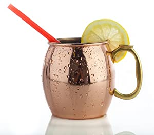 MKC 16 Ounce Moscow Mule Copper Mugs - Great for Your Own Moscow Mule Recipes - Copper Mule Mugs Make a Classy Gift for Family & Friends - Most Popular Copper Moscow Mule Mugs