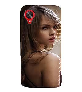 EPICCASE Pretty girl Mobile Back Case Cover For LG Google Nexus 5 (Designer Case)
