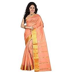 Dealseven Fashion New Pink Colure Cotton Woman Silk Saree