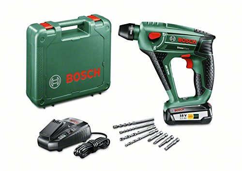 Bosch-DIY-Akku-Bohrhammer-Uneo-Maxx-Akku-Ladegert-2-x-Betonbohrer-2-x-Universalbohrer-4-Bits-Koffer-18-V-25-Ah-Bohr--10-mm-Beton-8-mm-Stahl