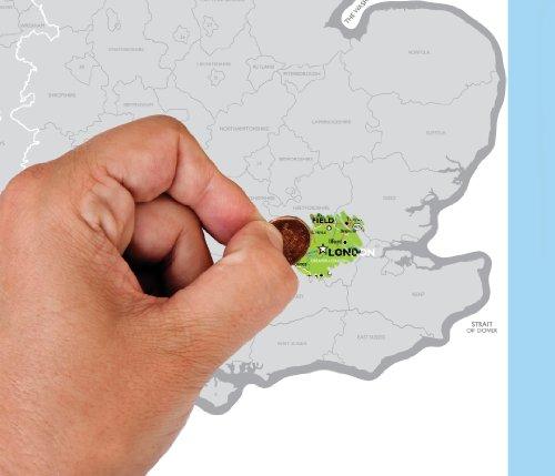 Luckies of London - Mappa dei Regno Unito da grattare