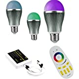 ENRG Prism LED Bulbs - Remote / Wi-Fi / Mi-light Mobile App Controlled Bulbs With 256 Colours. Set Of 3pc Bulbs...