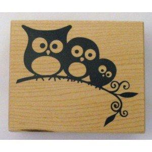 Artemio ARTHG325 Wooden Stamp G 3 Owls - 1