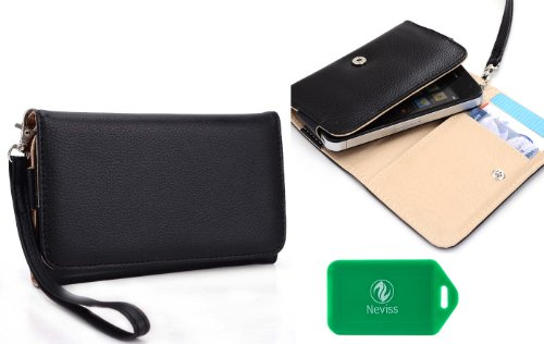 Ladies Black Universal Wristlet Wallet For Blackberry Q5