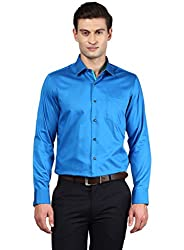 GIVO Blue Solid Casual Shirt