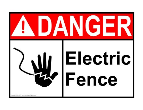 Compliancesigns Aluminum Ansi Danger Sign, 14 X 10 In. With Electrical - Warning Info In English, White