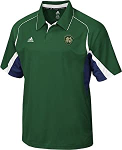Notre Dame Fighting Irish Adidas Green Sideline Polo Shirt by adidas