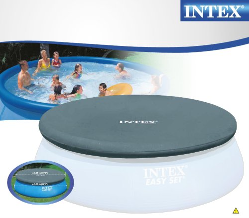 Intex Easy To Use 12 Ft Durable Round Swimming Pool Cover