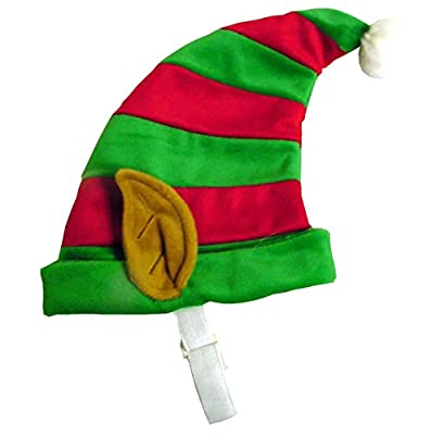 Outward Hound Dog Elf Hat Holiday and Christmas Pet Accessory, Red and Green