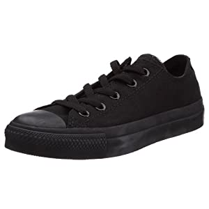 CONVERSE Unisex-Adult Chuck Taylor All Star Mono Ox Trainers 015490-70-8 AM Noir Mono 8.5 UK, 42 EU