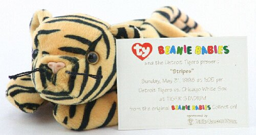 Sports Commemorative Card & Beanie Baby Stripes the Tiger - Game Day 05/31/1998 - Detroit Tigers vs Chicago White Sox - MLB Baseball at Amazon.com
