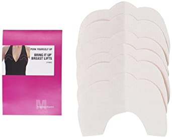 Maidenform Women's Plus-Size 3 Pair Bring It Up Breast Lift Tape, Clear, Large