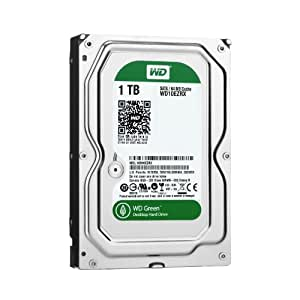 WD Green 1TB Desktop Hard Drive: 3.5-inch, SATA 6 Gb/s, IntelliPower, 64MB Cache WD10EZRX