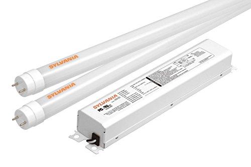Sylvania 73108 Ultra He T8 Led Two Lamp Retrofit Kit Replacing 4-Feet Fluorescent T12 Or T8 Lamp, 5000K