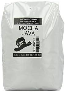 Larry's Beans Fair Trade Organic Coffee, Mocha Java Blend, Whole Bean, 5-Pound Bag