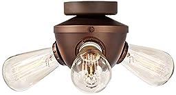 Edison Industrial 3-Light Oil-Rubbed Bronze Fan Light Kit