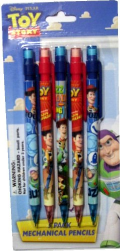 Toy Story Mechanical Pencils 5 to a Pack