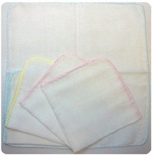 Isamu shokai, Japan-made gauze handkerchief plain 5 pieces