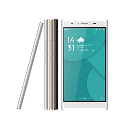 Doogee Y300 RAM 2GB + ROM 32GB 2.5D doppelt gekrümmten Schirm 5.0 Zoll MT6735 64-Bit-Quad-Core-Android 6.0 Smartphone(Gold)