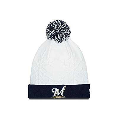 Milwaukee Brewers Snow Crown White Knit Hat