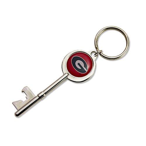 NCAA Georgia Bulldogs Skeleton Key Bottle Opener Key Ring