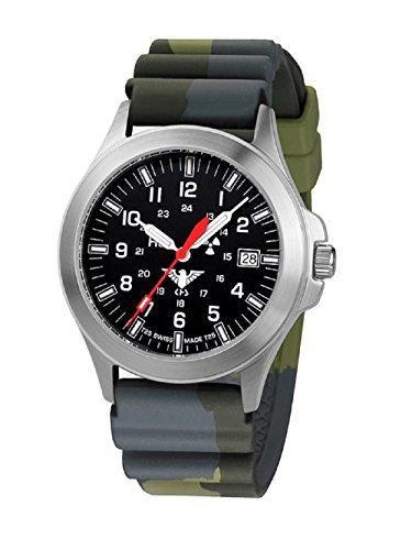 Relojes KHS hombre Tactical KHS.P.DC3 Camo sumergible de acero inoxidable. Colour verde oliva