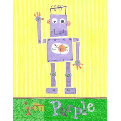 The Little Acorn Wall Art, Purple Robot - 1