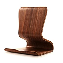 iPad Premium Natural Wood Stand Holder Support for iPad/iPod/mini/MacBook air/Pro(Brown-2)