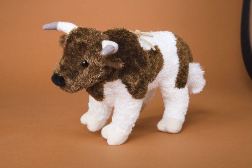 Plush Chaos Brown and White Rodeo Bull 9