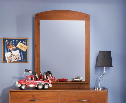 South Shore Logik Collection Mirror, Sunny Pine front-874359