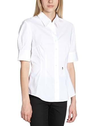 Schwarze Rose Damen Bluse Slim Fit, 080607, Gr. 34, Weiß (01)