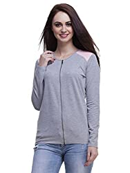 Femella Women's Fleece Quilted Jacket (DS-1337294/731/GRY/M_Grey_M)