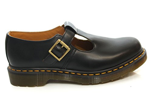 Dr.Martens Polley Black Leather Womens Shoes Size 41 EU