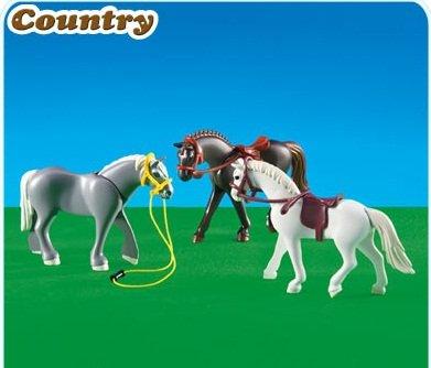 Playmobil 3 pferde 6257 preisvergleich pferde g nstig kaufen bei - Pferde playmobil ...