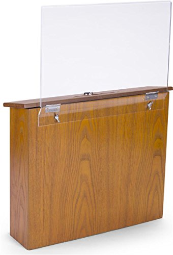 Hinged Counter Tops : Displays go wood suggestion box with hinged locking door