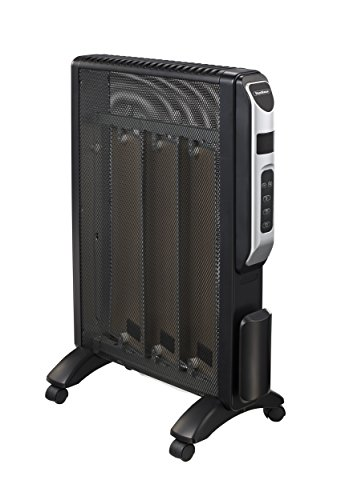 VonHaus Mica 1500W Micathermic Radiant Panel Heater with Thermostat - Black (Mica Radiator Heater compare prices)