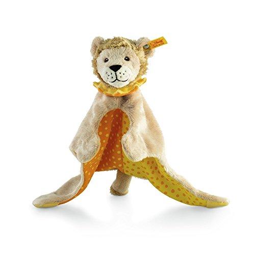 Steiff Leon Lion Comforter Plush, Beige/Yellow/Orange