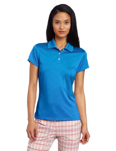 Adidas Golf Women's Climacool Textured Solid Polo