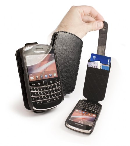 Blackberry Genius 9900black  Blackber Cover Fauxleather Bold
