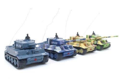 Ferngesteuerter-Mini-RC-Panzer-GERMAN-TIGER-I-Modellbau-RC-Battletank-mit-Schussfunktion-Sound-Licht-172-Mastab
