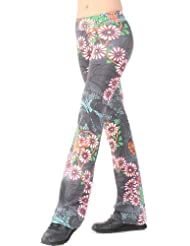 Margarita Retro Flower Patterned Long Pants