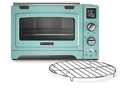 KitchenAid KCO275AQ Convection 1800-watt Digital Countertop Oven, 12-Inch, Aqua Sky (Kitchenaid Toaster Ovens compare prices)