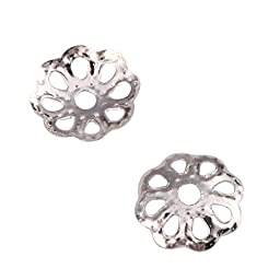 100pcs Silver Bead Caps beads 8mm for Jewelry Making CF119-8