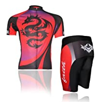 Baleaf Mens Short Sleeve Cycling Jersey Dragon Style M