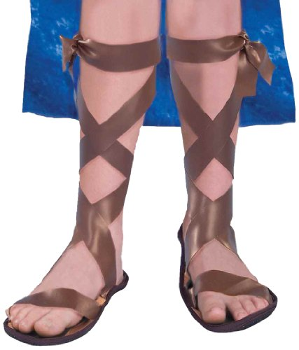 Forum Novelties Roman Costume Sandals, One Color, Child Medium