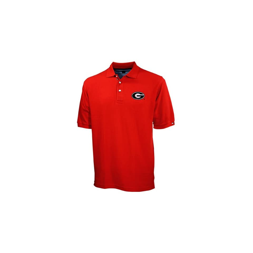 Tommy Hilfiger Georgia Bulldogs Red Pique Polo Sports