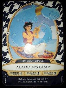 Sorcerers Mask of the Magic Kingdom Game, Walt Disney World - Card #23 - Aladdin's Lamp - 1