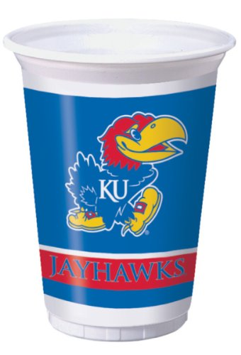 Creative Converting Kansas Jayhawks Printed 20 Oz. Plastic Cups (8 Count) - 1